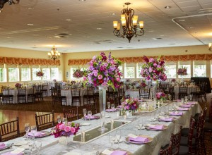 Head Table at Log Cabin Wedding, Photo by: Greg Moss Photography